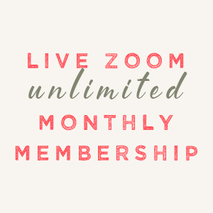 Live Zoom Class Unimited Monthly Membership